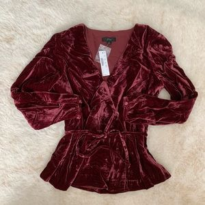 Jcrew velvet long sleeve to